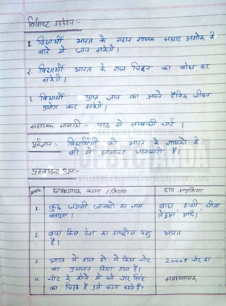 पाठ योजना हिंदी कक्षा 6|पाठ योजना हिंदी कक्षा 6pdf