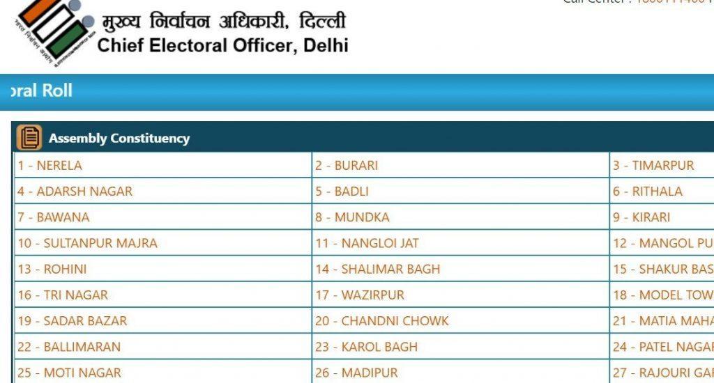CEO Delhi Voter List 2021   Search Name in Electoral Roll, PDF