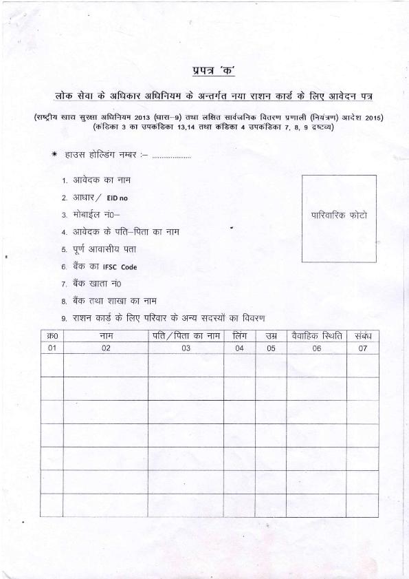 बिहार नया राशन कार्ड आवेदन फॉर्म ऑनलाइन पंजीकरण 2021, Bihar New Ration Card Apply Online