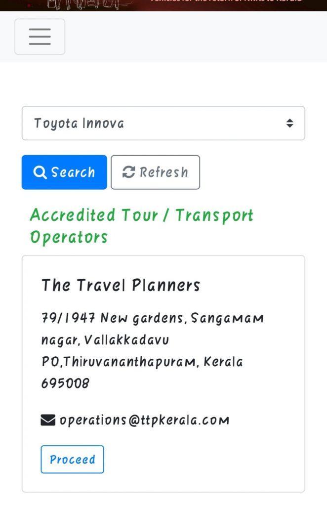 NRK Kerala pravasi online cab or taxi booking facility