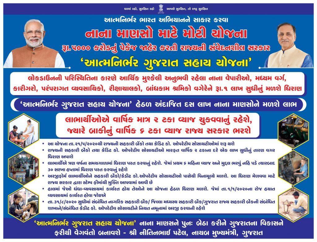 atmmanirbhag gujarat sahay loan scheme, apply