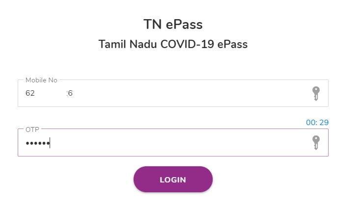 TN epass login page