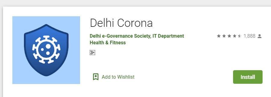 Delhi govt's Corona app