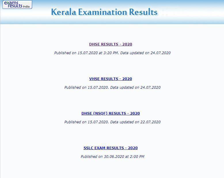 Kerala DHSC +1 Results 2021
