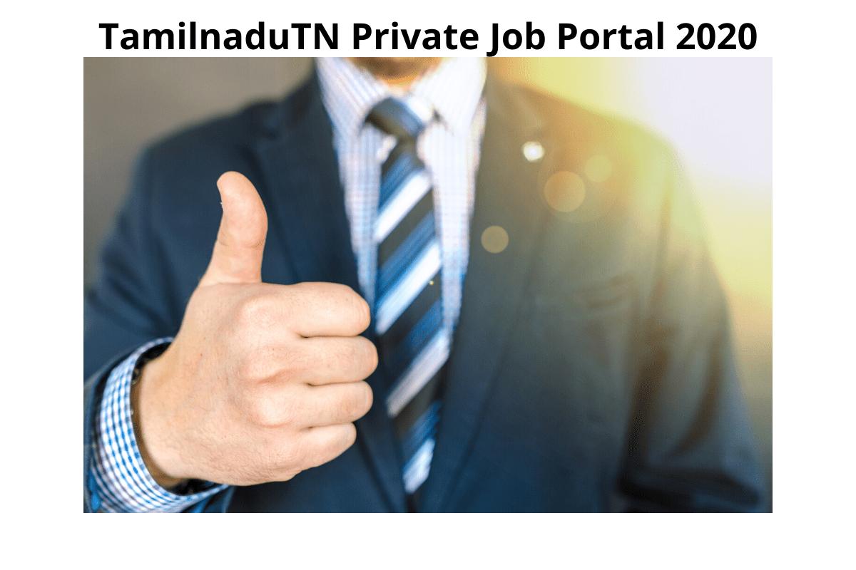 Tamilnadu Private Job Portal Registration
