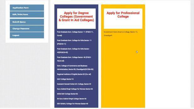 DHE Chandigarh Online Admissions 2020-21