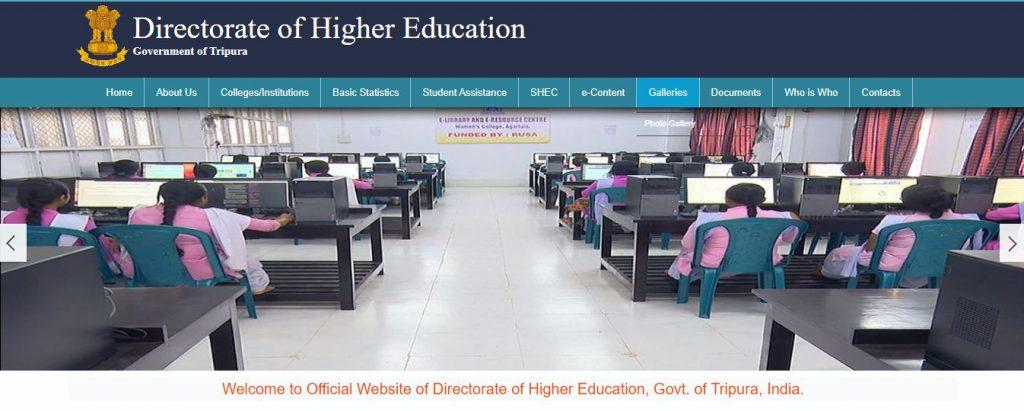 Tripura Govt Degree College Online Admission 2020