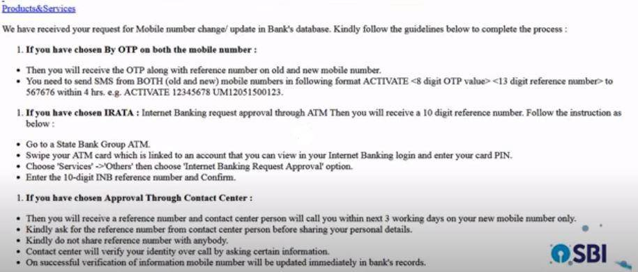 SBI Mobile Registration | How to Add/Update Mobile Number to SBI Bank Account (All Methods 2021)