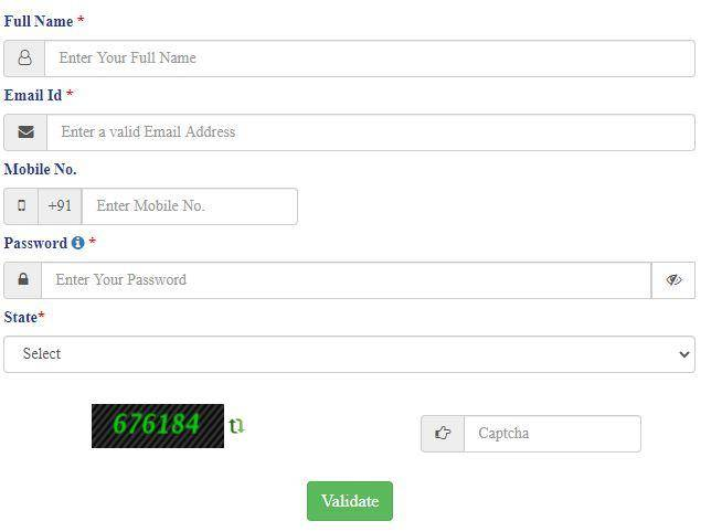Service Online Portal Registration