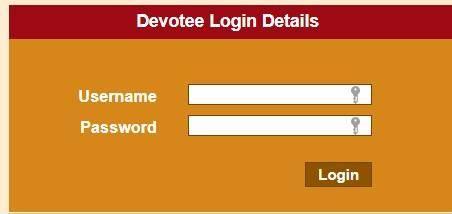 maa vaishno devi devotee login page