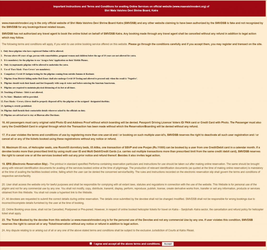 Vaishno Devi yatra 2020 rules