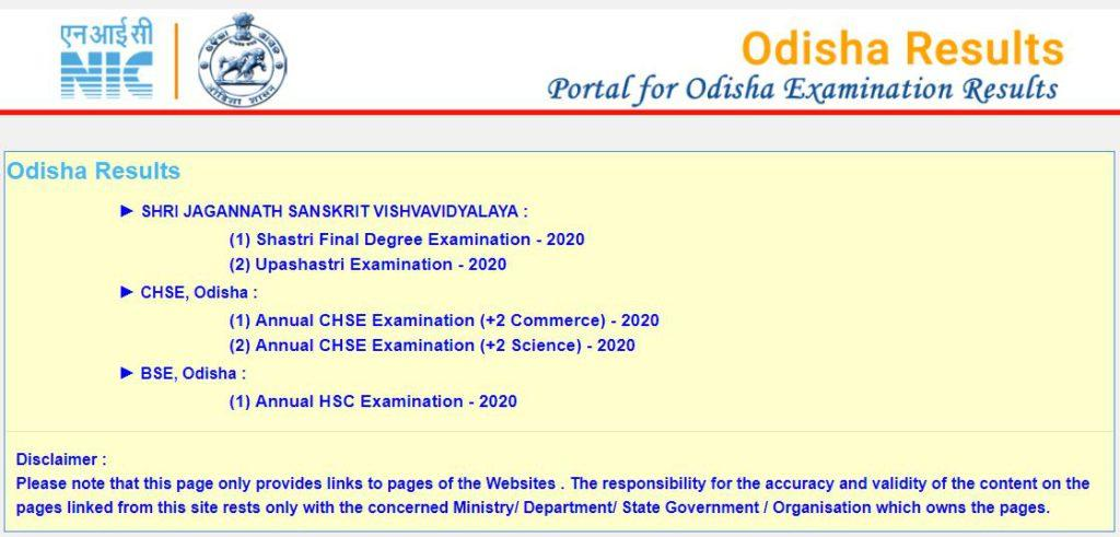 CHSE Odisha +2 Results 2021