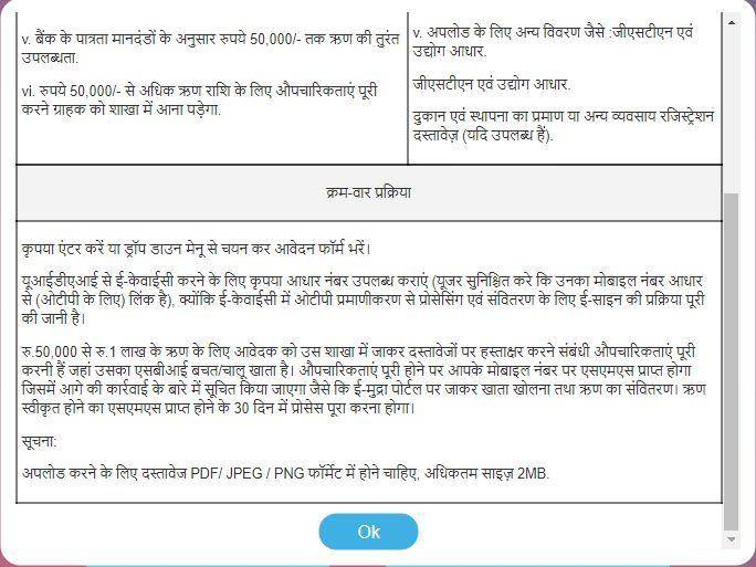 SBI E-Mudra Loan : Apply Online
