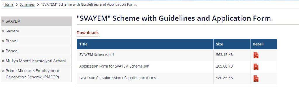 Assam SWAYEM Scheme 2020