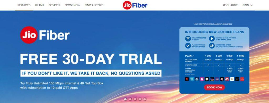 Apply Online for Jio Fiber Broadband