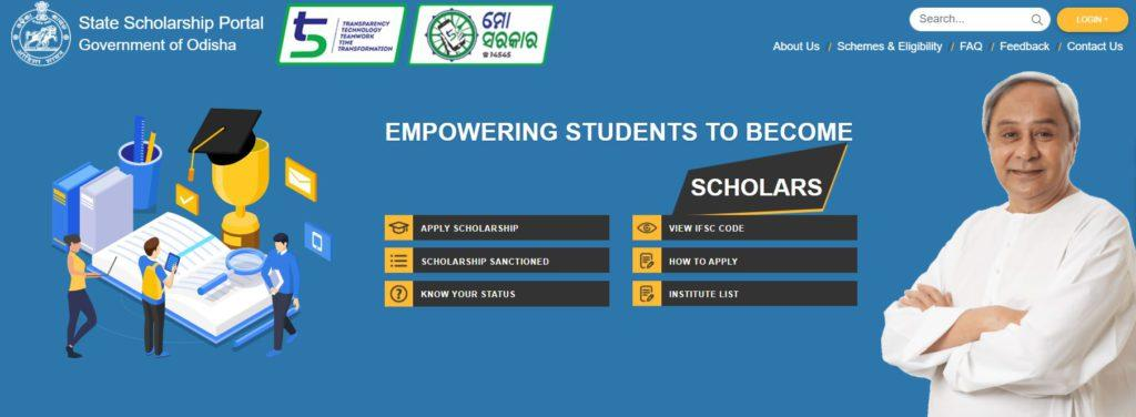 Apply for Scholarship on Scholarship Odisha Portal