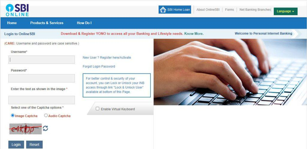 State Bank of India Online Cheque Book