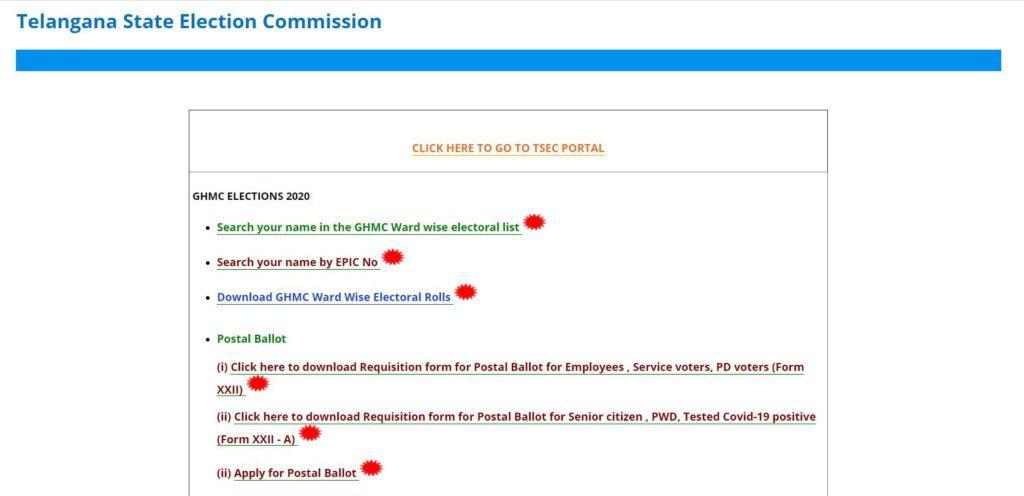 TS GHMC Elections Voter List 2020-21