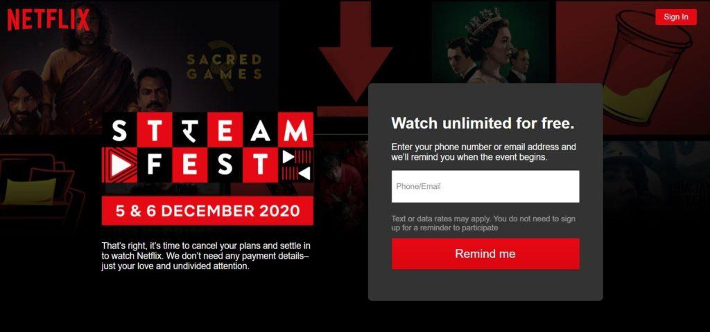Netflix Streamfest 2021