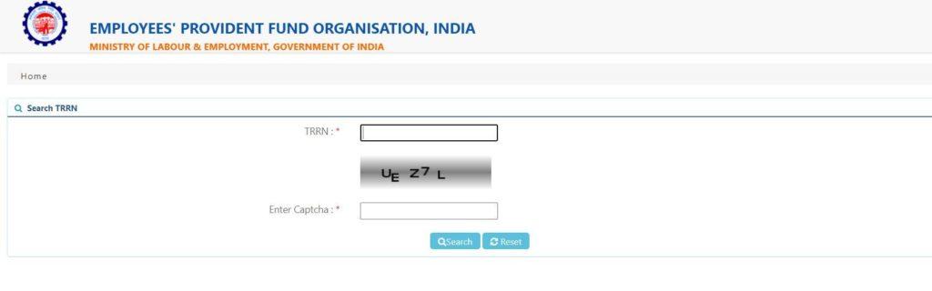 ESIC TRRN Status   Check Online @ EPFO Portal