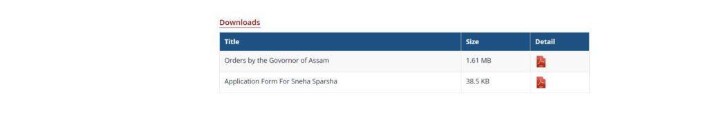 Sneha Sparsh Scheme Assam