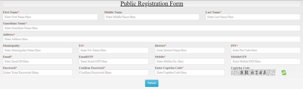 Banglarbhumi OnlineApplication Form 2021