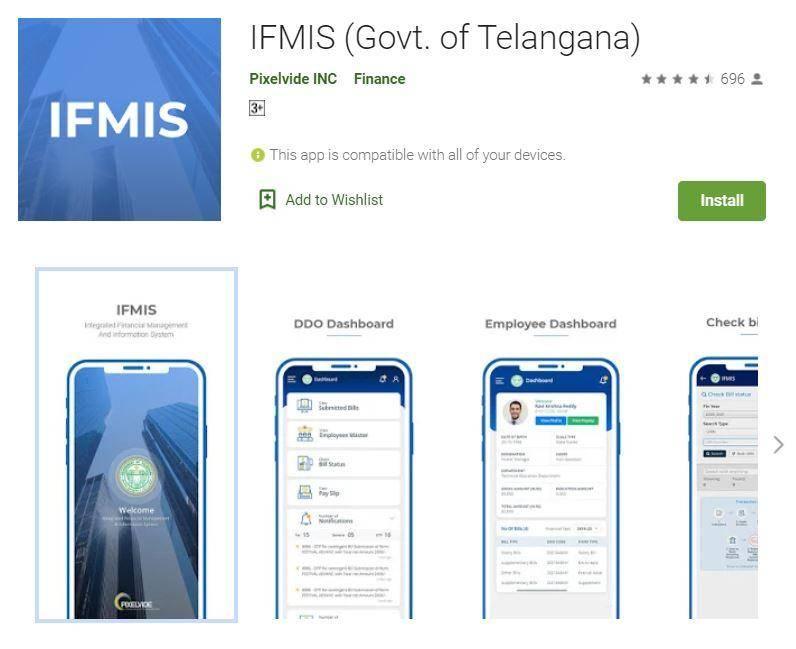IFMIS Telangana Login 20212-21