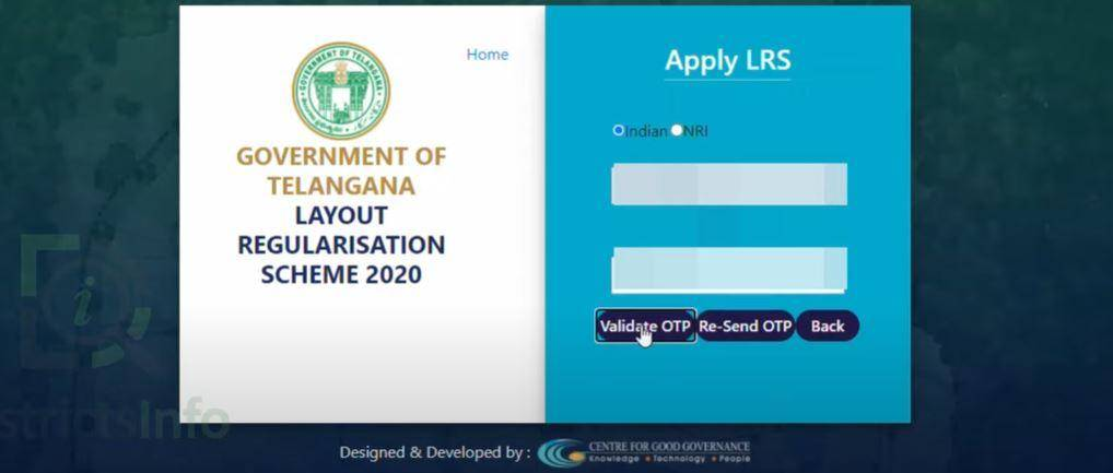 Check Application Status of Telangana LRS/BRS Scheme