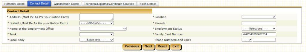 Tamilnadu Employment Exchange Card