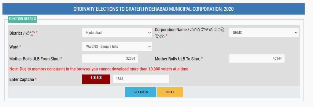 Search Ward Wise Electoral Rolls by Name