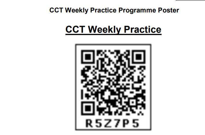 CCT Weekly Practice Test on Diksha Mobile App