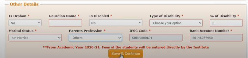 National Scholarship Online Registration