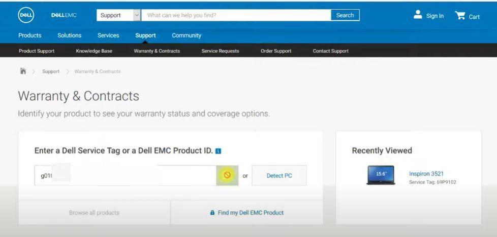 Laptop Warranty Check Online