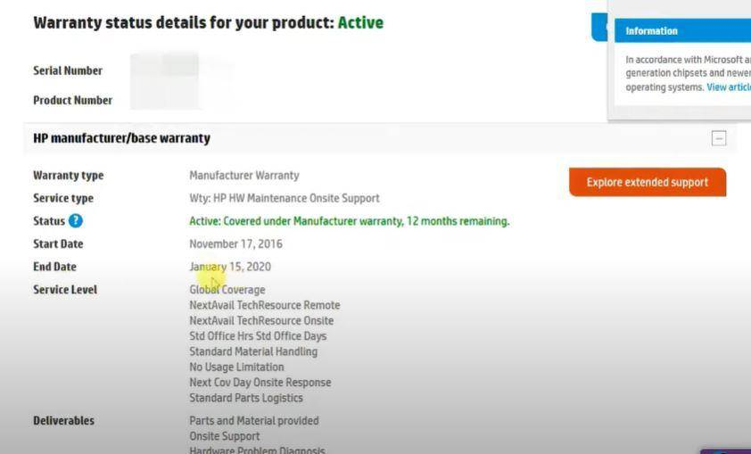 Check Warranty Status of HP Laptop Online