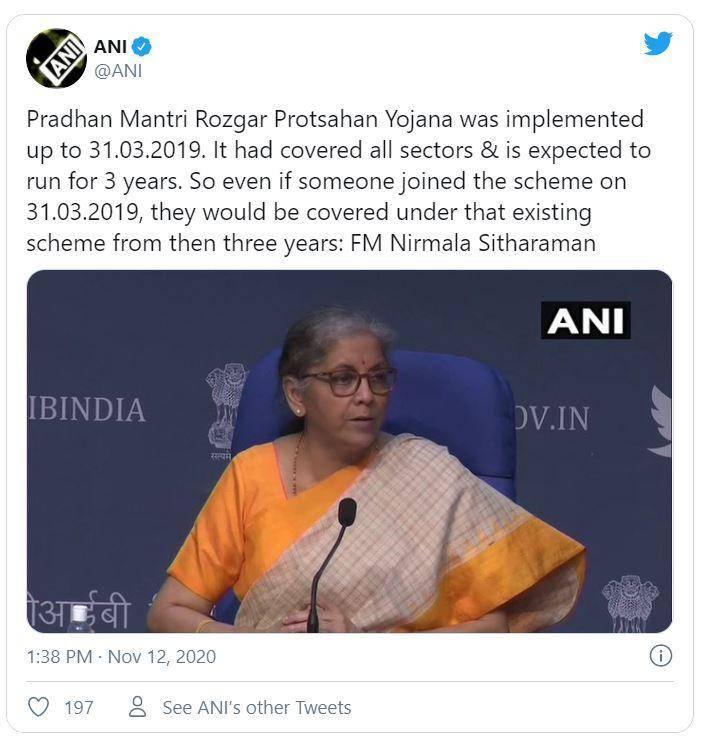 Atmanirbhar Bharat Rozgar Yojana 2020