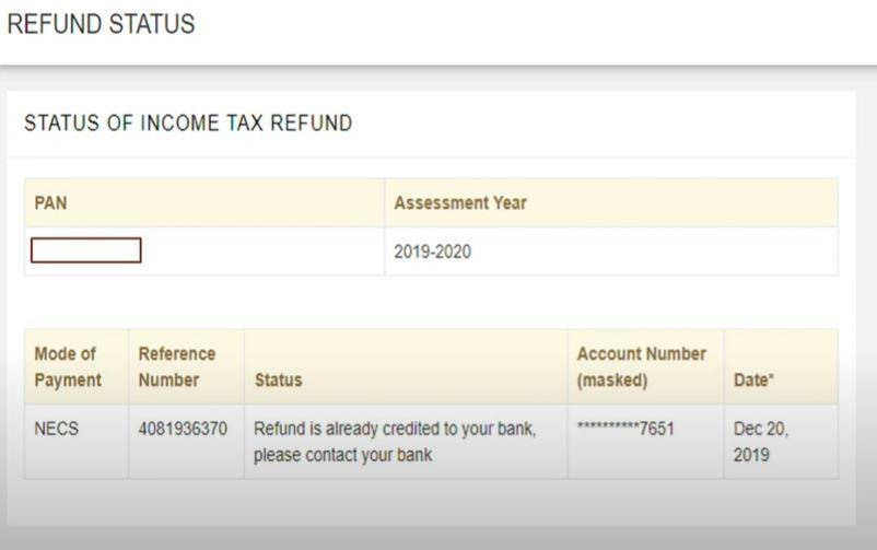 Apply Income Tax Refund Status