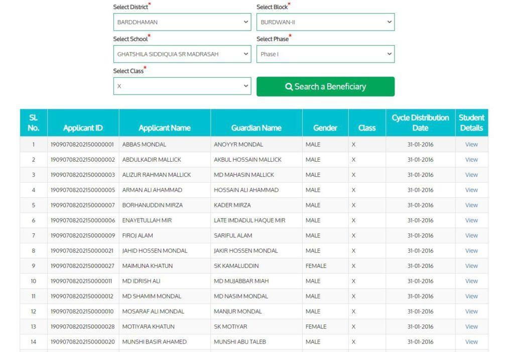 Sabooj Sathi Bi-Cycle Distribution Scheme