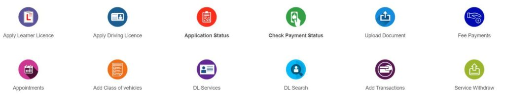 Check Application Status of Driving/Learner's License