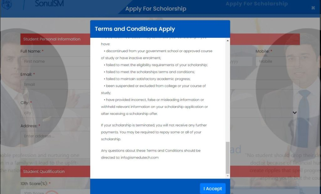 Apply for Sonuism Scholarship