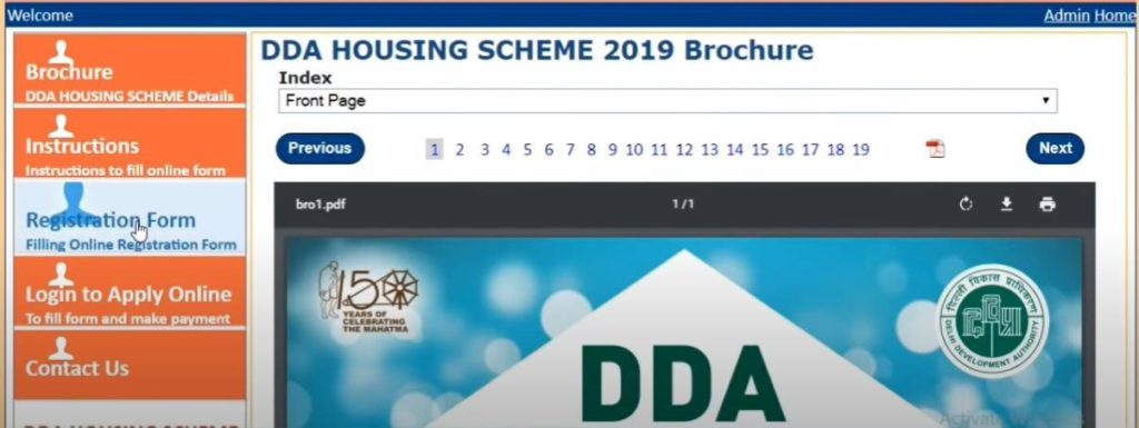 DDA Housing Scheme Advertisement and Brochure
