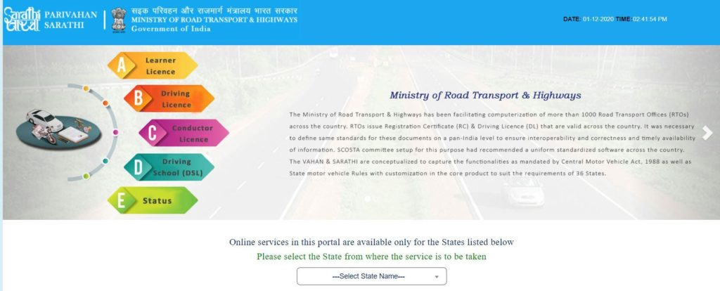 New Driving License Online 2021