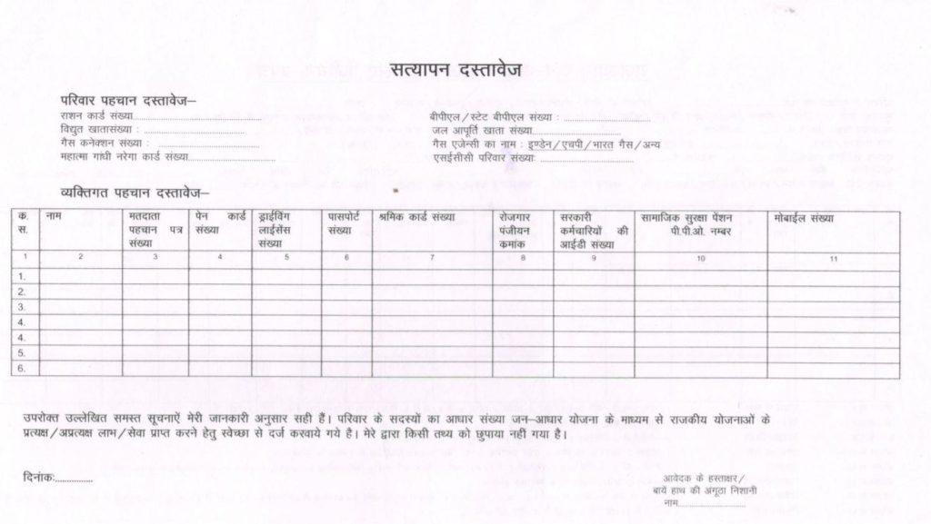Jan Aadhaar Online Registration Form 2021