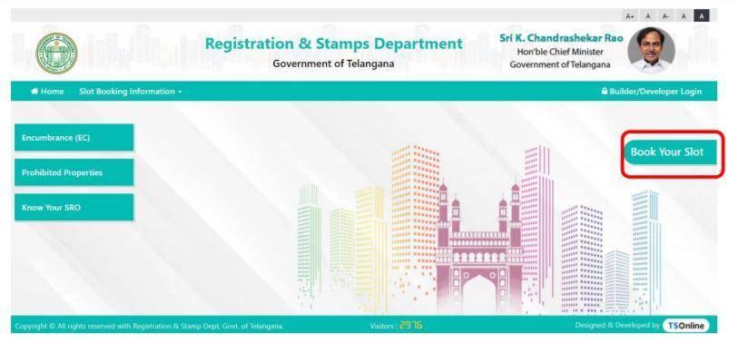 Telangana Non-Agricultural Property Slot Bookings
