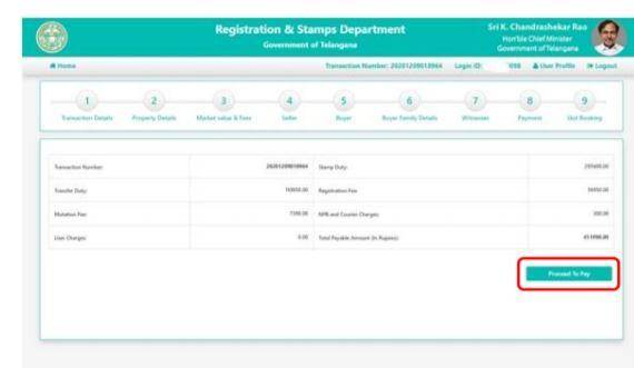 Telangana Slot Bookings Appointment Online