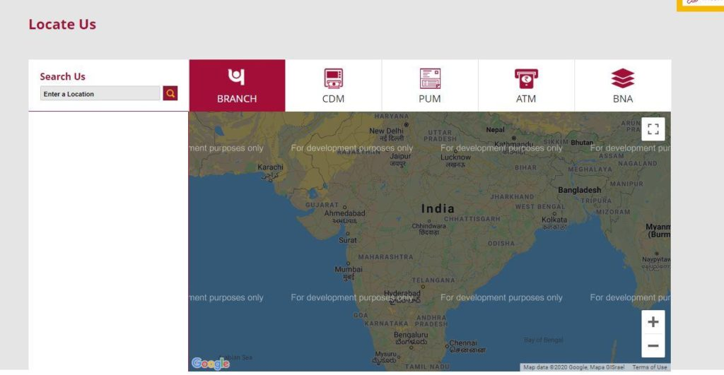 Search Nearby Punjab National Bank Branch