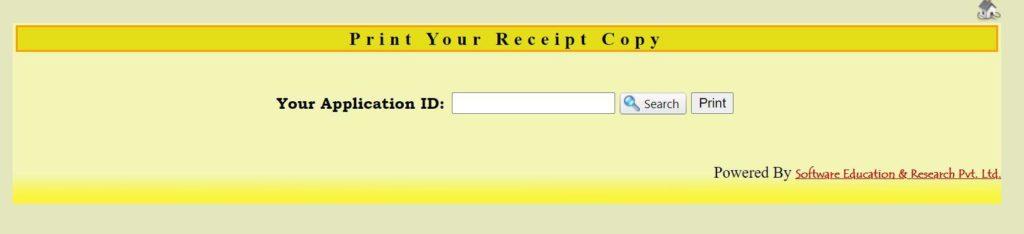 Procedure to Print Your Receipt