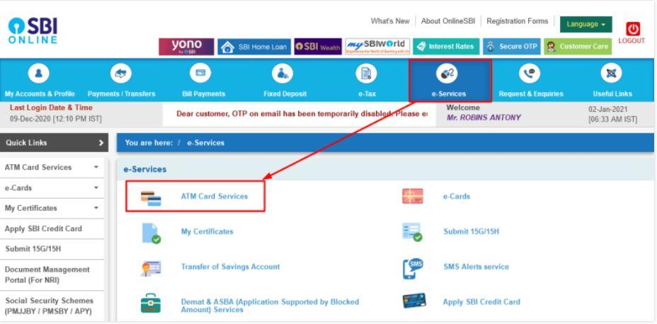Track SBI Debit/Credit Card Delivery Status Online