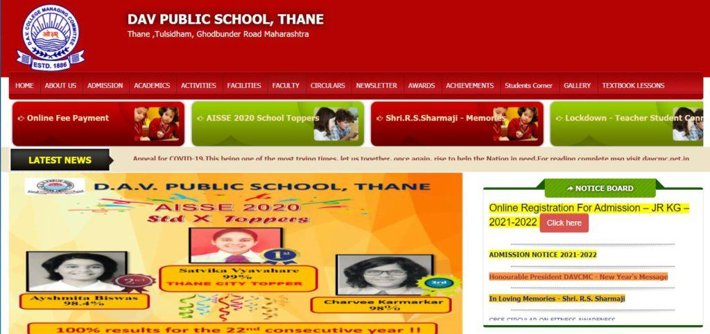 DAV Public School Thane Admission 2021-22