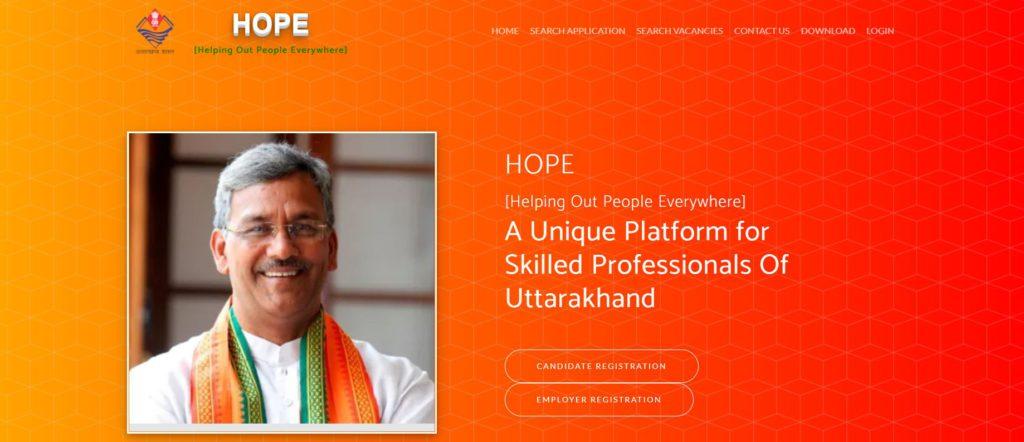 Procedure to Login on HOPE Portal