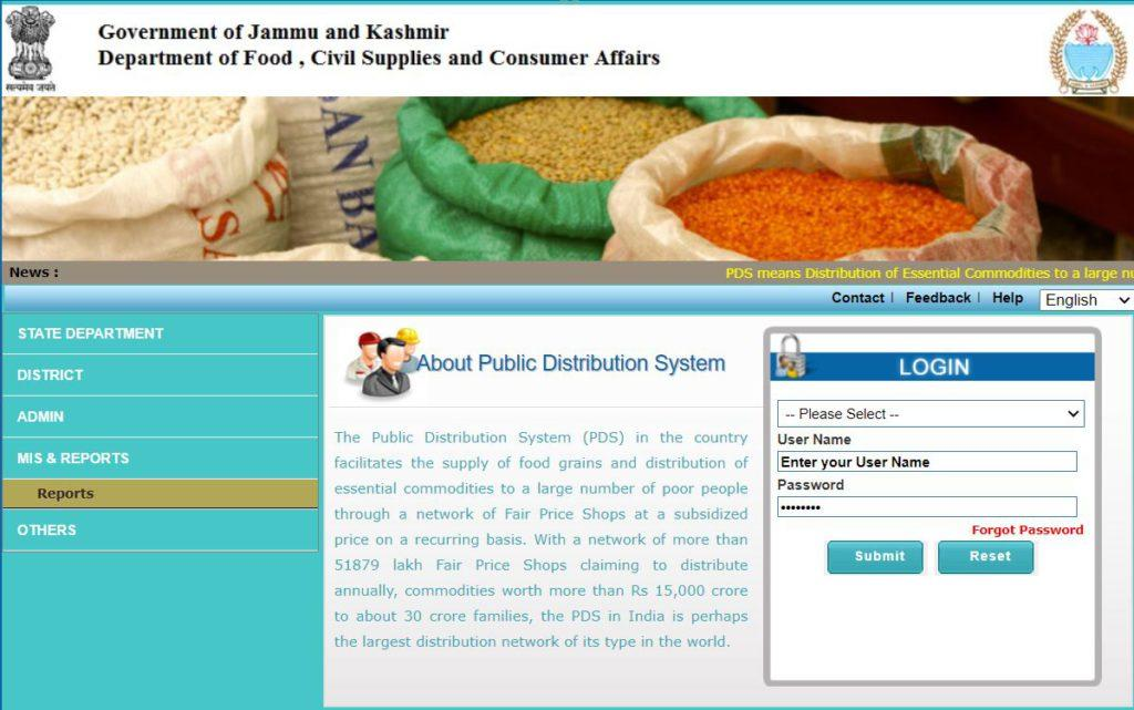 Procedure to View Ration Card List 2021 Online